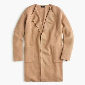 J crew Juliette collarless sweater blazer acorn